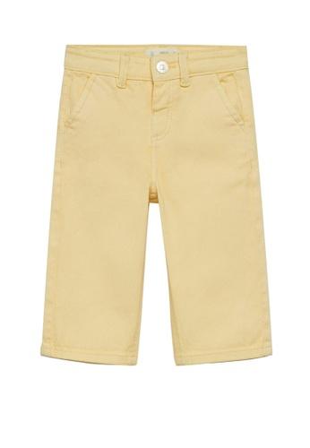 MANGO BABY yellow Culotte Jeans 747C4KA55B4851GS_1