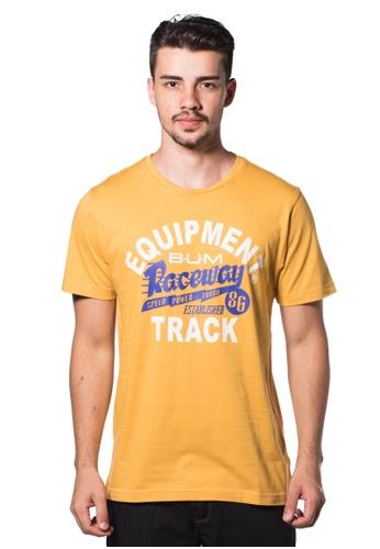 Bum Equipment yellow B.U.M Equipment Men Round Neck Tee (MD. YELLOW) BU054AA0RHCMMY_1