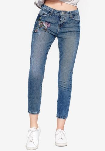 ESPRIT blue Denim Cropped Pants 57204AAE17B2C1GS_1