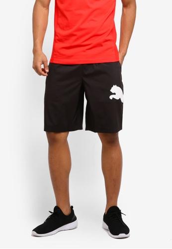 Puma black Essential Big Cat Woven Shorts PU549AA0SWJ2MY_1