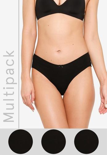 H&M black 3-Pack Cotton Hipster Briefs B1E99USFABDCD3GS_1
