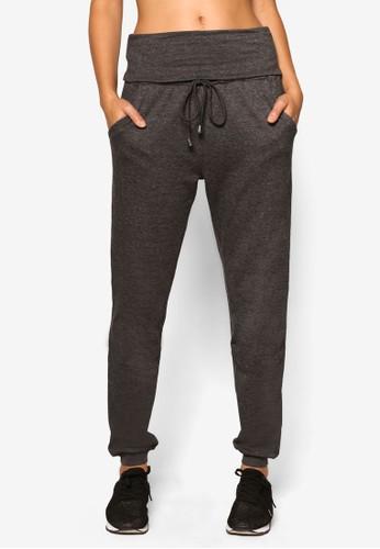 寬褲頭抽繩運esprit tw動長褲, 服飾, 服飾