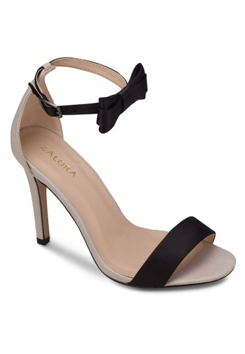 zalora 包包 ptt蝴蝶結踝帶高跟涼鞋, 女鞋, 細帶高跟鞋