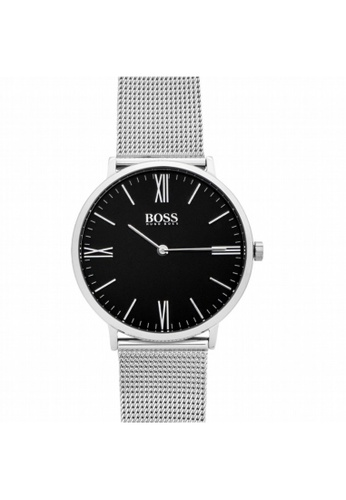 Hugo Boss [NEW] Hugo Boss Hugo Boss Jackson Balck Dial Stainless Steel men's watch 40mm HB1513514 BE4D4ACFA57172GS_1