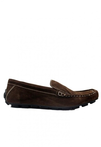 D-Island brown D-Island Shoes Moccasine Slip On Lacoste Suede Dark Brown DI594SH29STMID_1