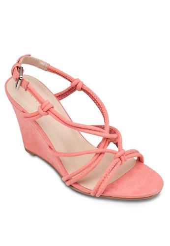 Tubular 交叉多帶楔型涼鞋, 女鞋zalora 評價, 楔形涼鞋