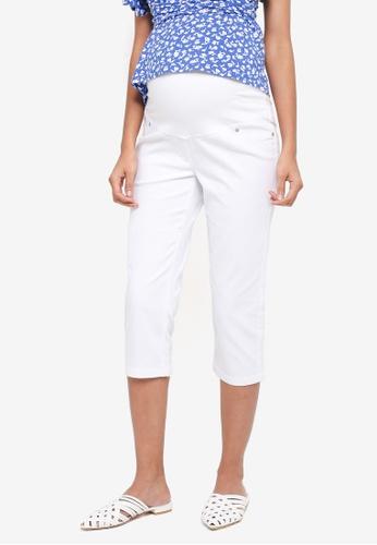 JoJo Maman Bébé white Maternity Cropped Jeans 274F0AA8D579EAGS_1