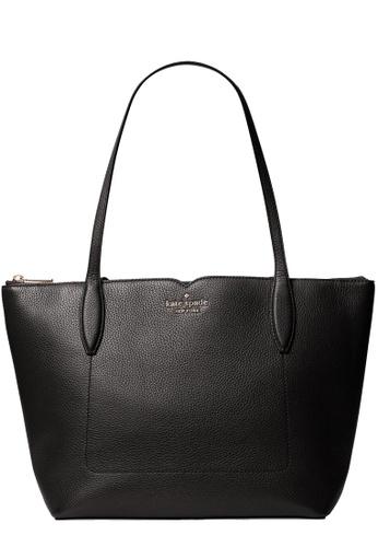 Kate Spade black Kate Spade Harlow Tote Bag in Black 9D03CAC3DA44C6GS_1