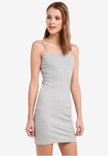 TOPSHOP grey Mini Bodycon Jersey Dress 447DFAA63AA1D1GS_1