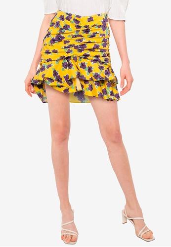 URBAN REVIVO yellow Casual Skirt 3FAABAA7CAB166GS_1