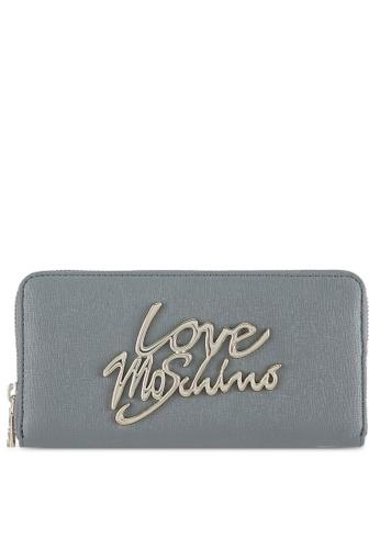 Love Moschino grey Portafogli Saffiano Wallet LO478AC0SEKWMY_1