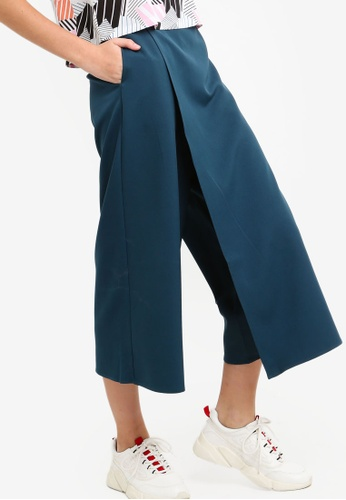 Something Borrowed green Flare Culottes BE029AAA3BAFD0GS_1