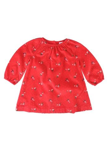 GAP red Toddler Floral Corduroy Dress B2734KAF63B16FGS_1