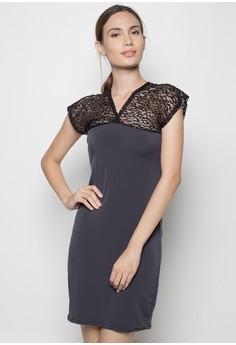 Fire Side Lace Dress