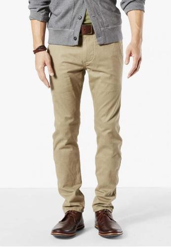 Dockers brown Dockers Alpha Original Skinny Pants British Khaki DO282AA56CPNSG_1