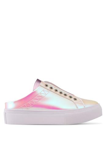 Something Borrowed pink Platform Lace Slip On CC561SH4D7D5CDGS_1