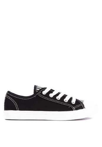 BENCH black Striped Lace Up Sneakers 9D447SH6BC21A1GS_1