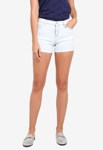 Dorothy Perkins white Bleach Floral Embroidered Shorts 35293AA7FE0895GS_1