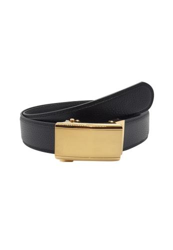 Oxhide black Business Belt - Real Leather Ratchet Belt with Auto Lock Buckle - Track Belt - ABB3C Oxhide Black 0EFA9AC4F8F57FGS_1