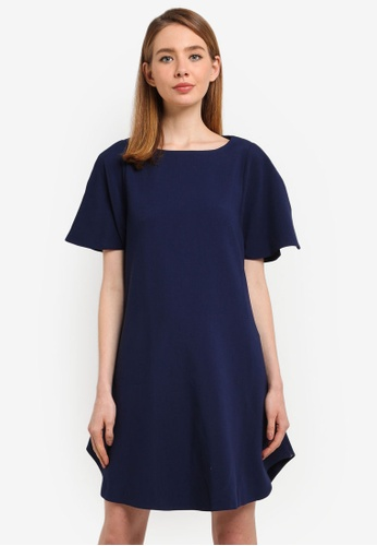 CLOSET navy Angel Sleeve Tunic Dress AB6F4AA082C562GS_1