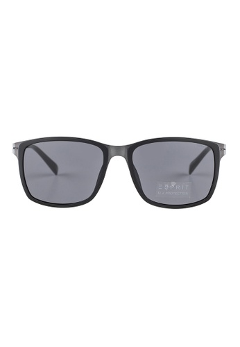9cce9bf98a ESPRIT ESPRIT Square Black Sunglasses ET17921 ES374AC59GAMMY 1