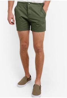 【ZALORA】 12吋棉質短褲
