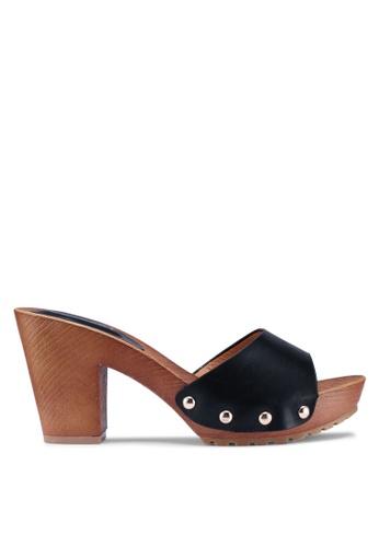 Noveni black Casual Heels E68B3SH23E6E85GS_1