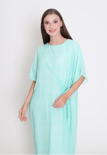 MAMORA blue Mamora Teal Kaftan Dress 071EAAA7063E0EGS_1