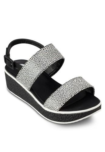 雙帶繞踝楔形厚底esprit 會員鞋, 女鞋, 鞋