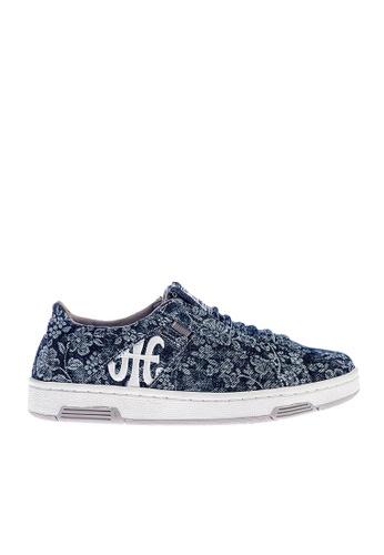 Royal Elastics 藍色 Icon Washed 帆布休閒鞋 RO796SH099IJTW_1
