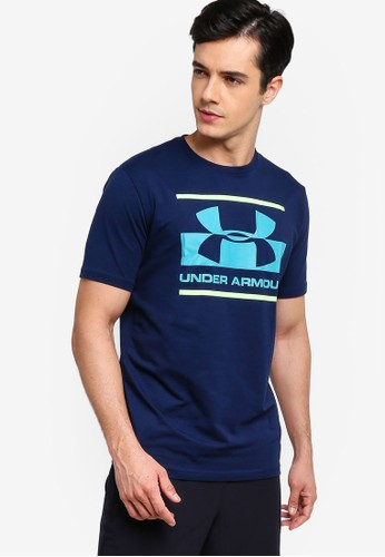 Under Armour navy Blocked Sportstyle Logo Top AE677AAC62FCC0GS_1
