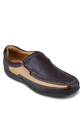 雙色皮革休閒鞋, esprit地址鞋, 鞋