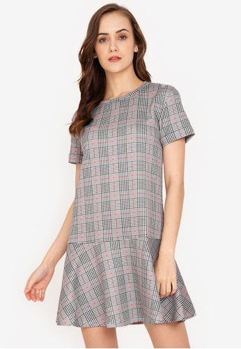 ZALORA WORK multi Drop Fluted Hem T-Shirt Dress 817C7AA3E0549FGS_1