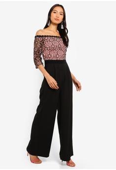 dec9bc6ed13 Little Mistress black Crochet Jumpsuit 95922AA4EF5298GS 1