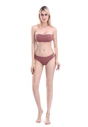 ZITIQUE pink Tube Top Bikinis C8C98US74FCBF5GS_1
