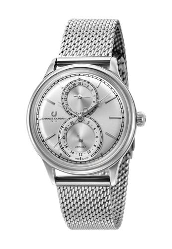 Charles Jourdan silver Charles Jourdan Women CJ1059-2312M Silver Stainless Steel Mesh Watch 43039AC661EF80GS_1