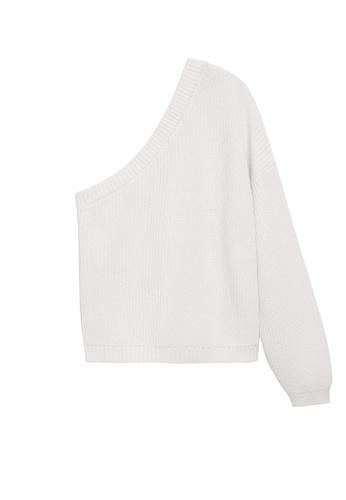MANGO KIDS white Asymmetric Knit Sweater 509A9KAE136802GS_1