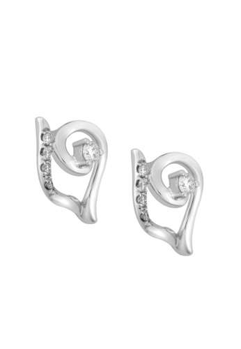 TOMEI white TOMEI Candescent with Illuminating Sparkles Earrings, Diamond White Gold 375 (E1965) 45326AC8B05763GS_1