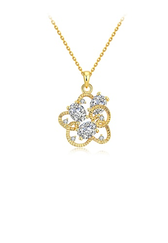 Glamorousky white Fashion Flower Pendant with Austrian Element Crystal and Necklace F6DD7AC61D0E1AGS_1