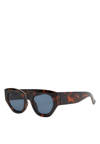 Mango brown Acetate Frame Sunglasses EA144GLFDD0F9EGS_1