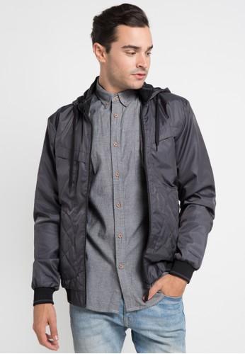 Cressida grey Jacket Parachute Hoodie H177A CR235AA0UF67ID_1
