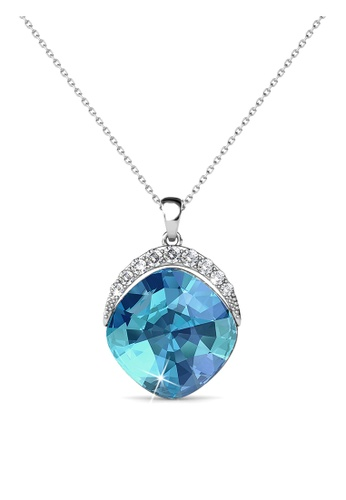 Her Jewellery blue and silver Swarovski® Crystals - Tiffy Pendant (Blue)(18K White Gold Plated) Her Jewellery HE581AC0R9X7MY_1