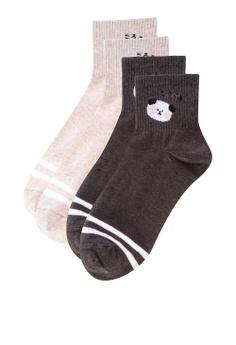 43c426ae1 Kiss Socks multi 2-In-1 Cheeky Crew Socks 2B369AA5F8FA66GS 1