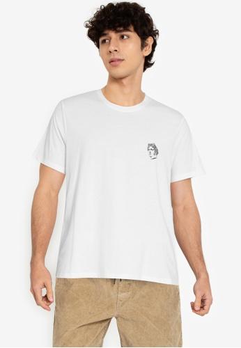 ZALORA BASICS white Roman T-Shirt 3F390AA24AD555GS_1