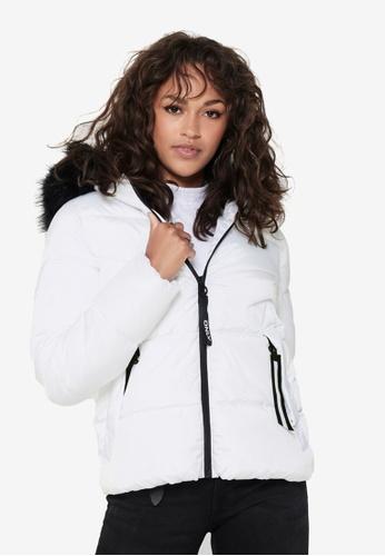 ONLY white Monica Short Puffer Jacket E52A7AA4E8D084GS_1