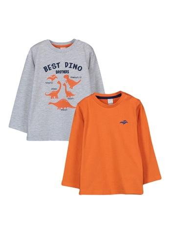 LC Waikiki grey 2-pack Baby Boy's Printed T-shirt E5470KA98FC998GS_1