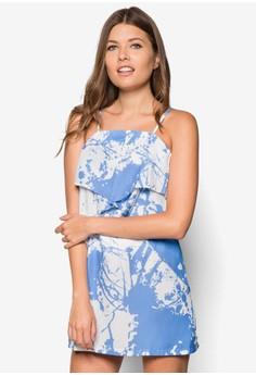 Splatter Print Layered Cami Shift Dress
