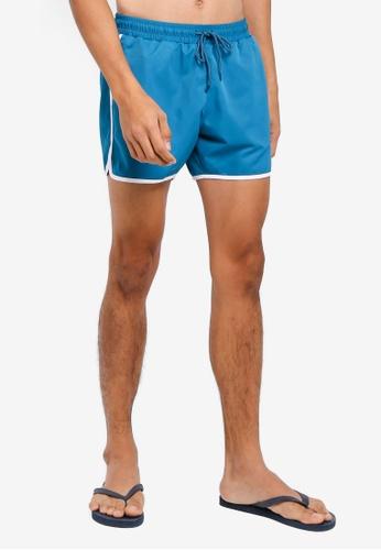 Topman green Teal Runner Swim Shorts 04CAEUSA91979FGS_1