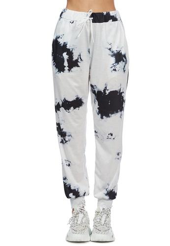 London Rag white White Tie-Dye Settle in Style Lounge Pants E4320AADBF5F24GS_1