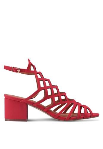 Something Borrowed red Honeycomb Cut Out Heels 4945BSHFE6DD0BGS_1